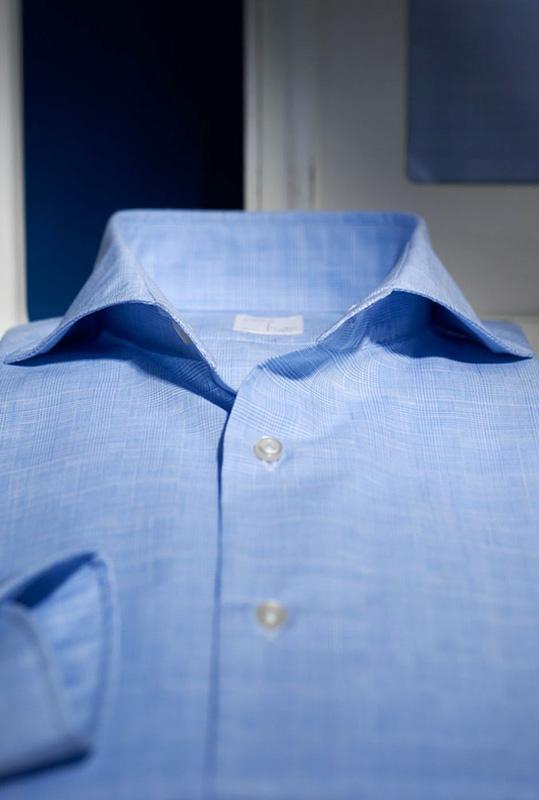 Camicia celeste Carrel