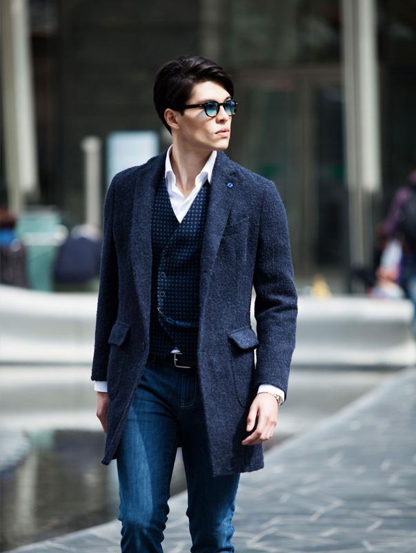 Cappotto Blue Angelo Nardelli
